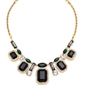Kate spade black gem Art Deco statement necklace